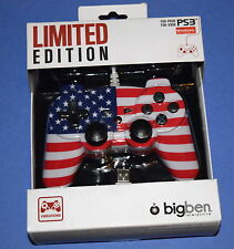 LIMITED EDITION Wired Controller for Sony PS3 or PC - NEW usa american flag