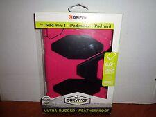 Genuine Griffin iPad mini 2 3 Retina Case Stand Pink Black Survivor All-Terrain
