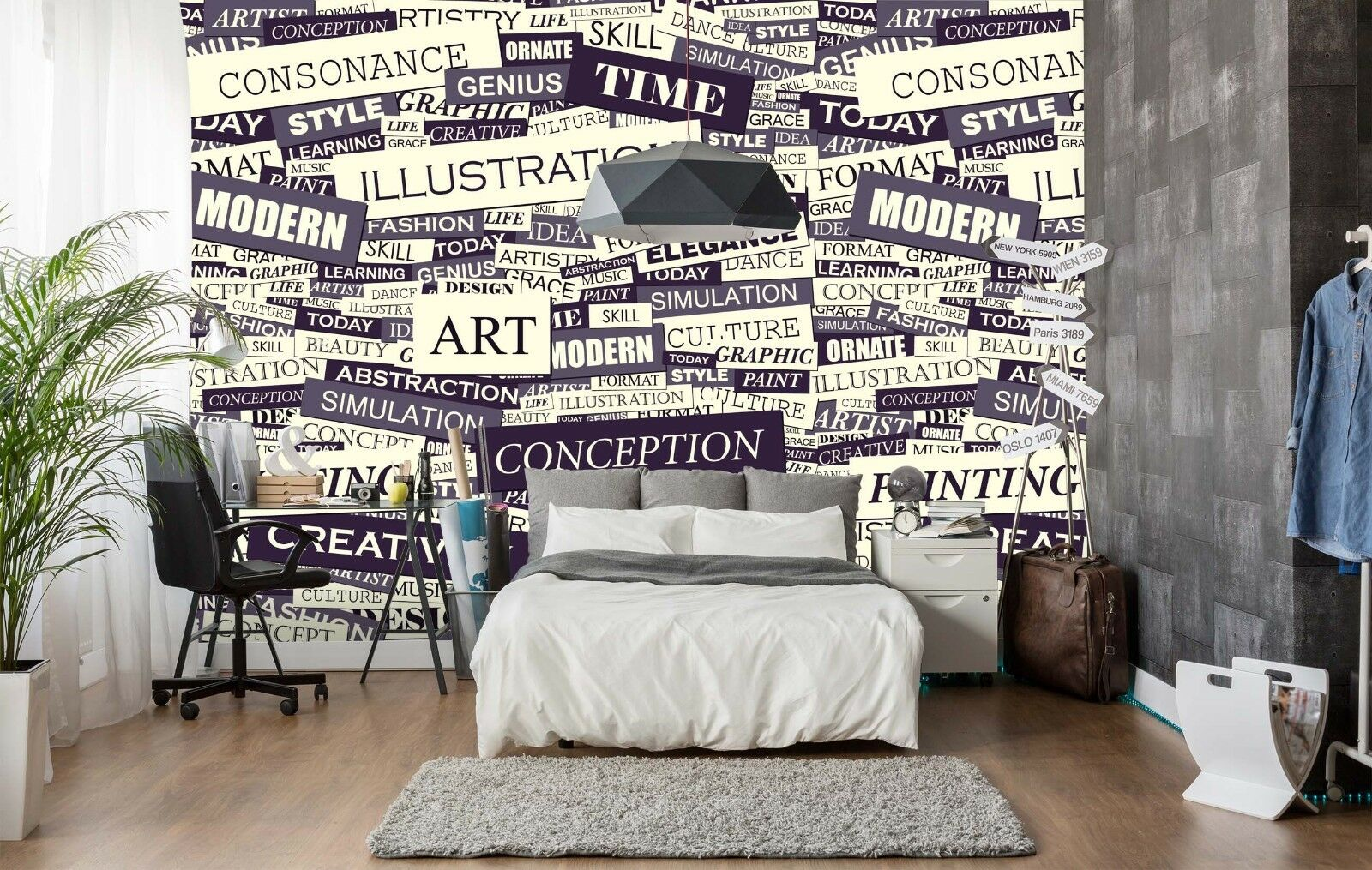 3D Slogan Art Weiß 860 Wallpaper Mural Paper Wall Print Indoor Murals CA Summer