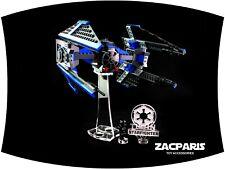 Models DISPLAY PLAQUE for Lego 6206 7181 TIE Interceptor etc Clear acrylic!