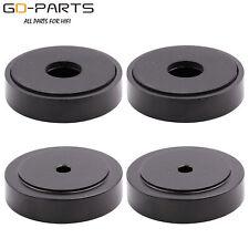 4PCS 30x13mm Black Aluminum Monitor Speaker Cabinet Turntable Isolation Feet Pad