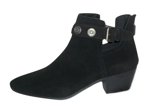 Nine West Lorao ankle boot western bootie black suede leather sz 9 Med NEW