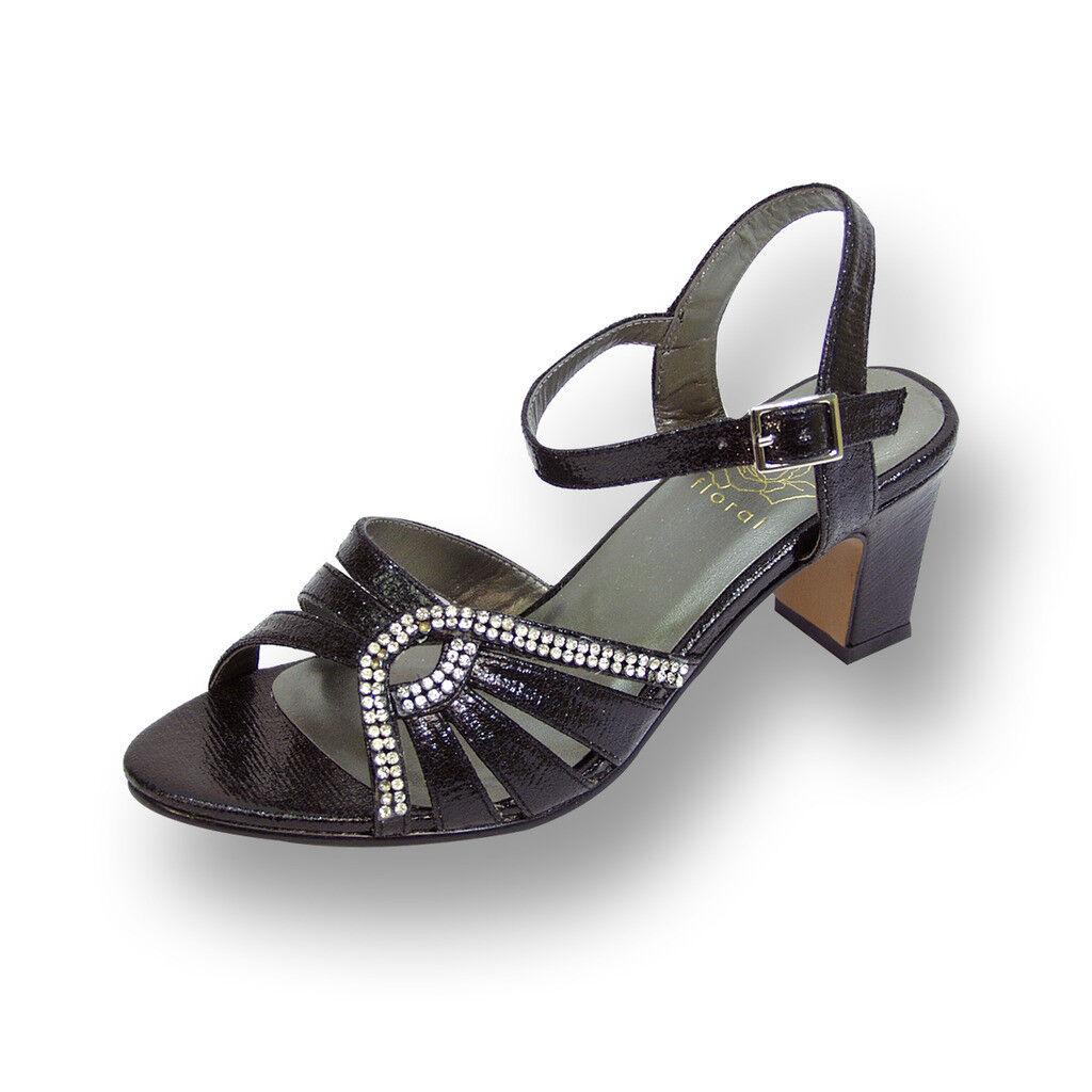 FIC FLORAL Carla Damens Wide Width Open Toe with Ankle Strap Buckle Dress Sandale
