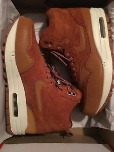 Details about New Womens Nike Air Max 1 Mid Sneakerboot Size 7 TawnyTawny Sail Gum Brown RARE