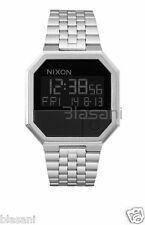 Nixon Original Re-Run A158-000 Silver/Black Stainless Steel 38.5mm Watch