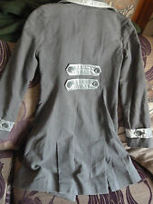 Vintage Style Gap Coat, Grey velvet trim, Ladies Military Style Sixe XS 8/1o