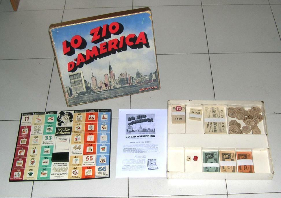 LO ZIO dAmerica Editrice Jeux Anni 60 70 COMPLET