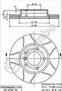 Bremsscheibe 2 Stück Brembo 09.5390.77 BREMBO MAX