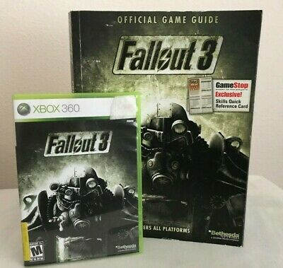 Ambitieus Xbox 360 Fallout 3 Video Game W/ Prima Official Strategy Game Guide