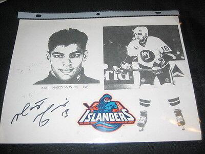 Autographs-original Sports Mem, Cards & Fan Shop Marty Mcinnis Ny Islanders Legend Signed Autographed 8.5x11 B&w Vintage Paper