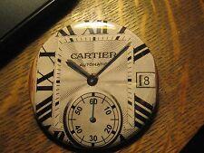 Cartier Automatic Wrist Watch Face  Repurposed Advertisement Pocket Mirror
