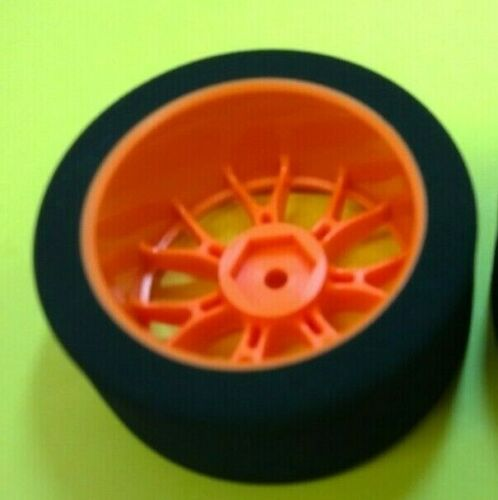 GQ RC Products 1//10 Wheels w//foam tires 28mm Red//Tan compound C2 touring car