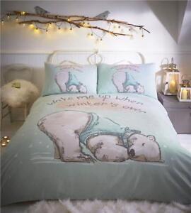 polar bear duvet cover bed sets cute sleeping bear winter. Black Bedroom Furniture Sets. Home Design Ideas