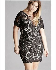 Forever 21 Plus Size Soieblu Crochet Dress 1x Ebay