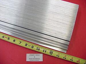 "100 Pieces 1/8"" X 1"" ALUMINUM FLAT BAR 14"" long 6061 T6511 New Mill Stock"