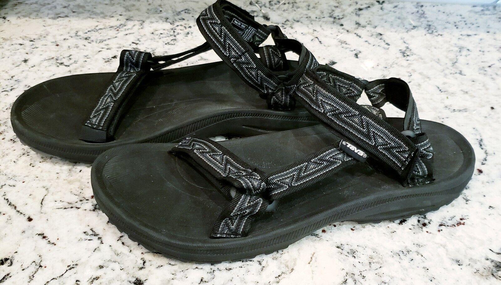 Teva 6584 Black Adjustable Sport Hiking Water River Sandal Shoes Mens 13