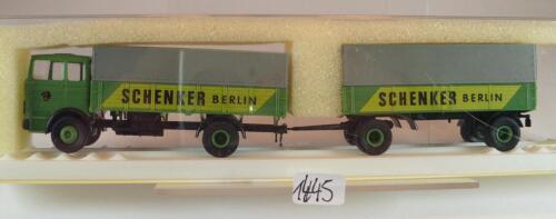 Brekina 1//87 8151 Mercedes Benz LP1418 Hängerzug Schenker Berlin OVP #1445