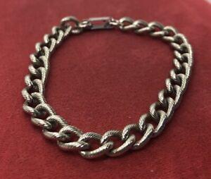 Vintage-Bracelet-7-5-Silver-Tone-Chain