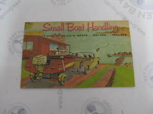 Obc Small Boat Handling Owner S Guide Boats Motors Trailers 1965 Ebay