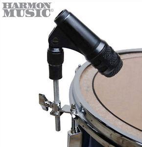 mic holder drum hoop rim snare or tom mount rubber shock mount microphone clip 753283300106 ebay. Black Bedroom Furniture Sets. Home Design Ideas