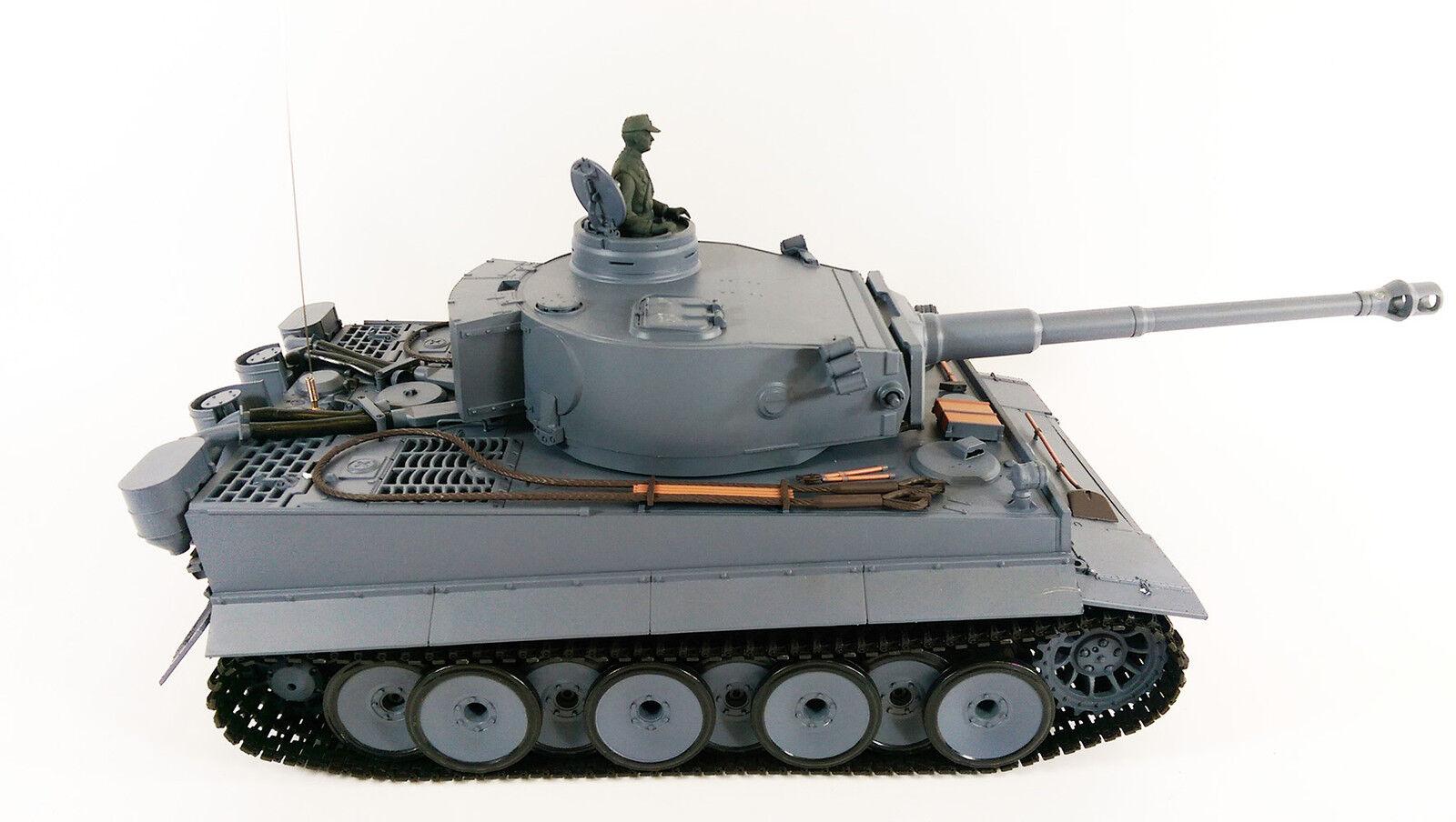 ジャーマンタイガー1リモコンRC陸軍軍世界大戦戦車煙音モデル