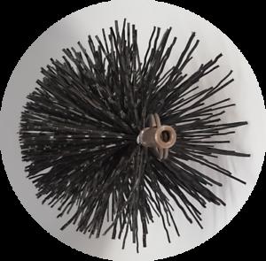 CFC033 100mm/4 inch dia Polypropylene Pull Thru Flue Brush 200mm long