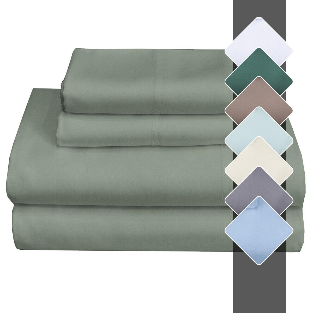 Split King Adjustable Sheet Set Super Soft & Cool Tencel Lyocell Sheets
