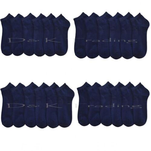 Men Women Spendex Dark Navy Colors Low Cut Ankle Socks Solid Wholesale Lots 9-11