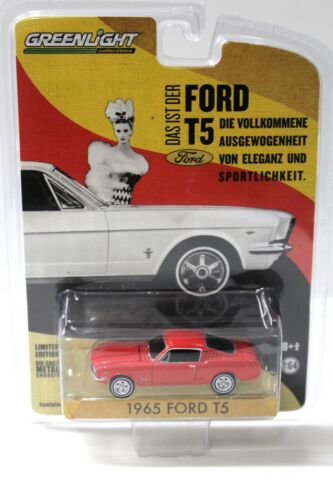 1:64 Greenlight Ford t5 German Edition 1965 Red New chez Premium-modelcars