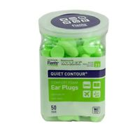Flents Quiet Contour Comfort Foam Ear Plugs NRR33 - 50 Pair Hearing Protection Health Aids
