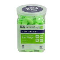 Flents Quiet Contour Comfort Foam Ear Plugs NRR33 - 50 Pair Hearing Protection Health Aids