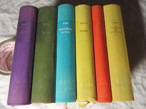 Details About Rimbaud Nodier Hugo Ronsard Musset Prevost 6 X French Literature Livre Francais