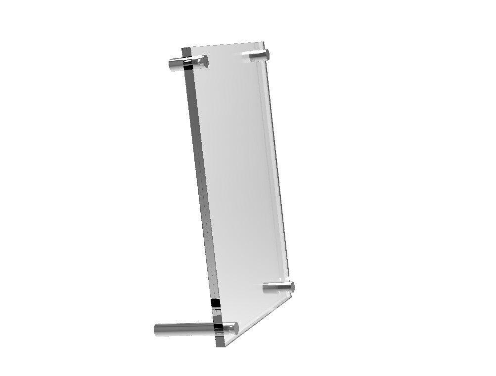 4 x 6 Acrylic Sign Holder with Standoff Hardware Acrylic Photo Holder 19007