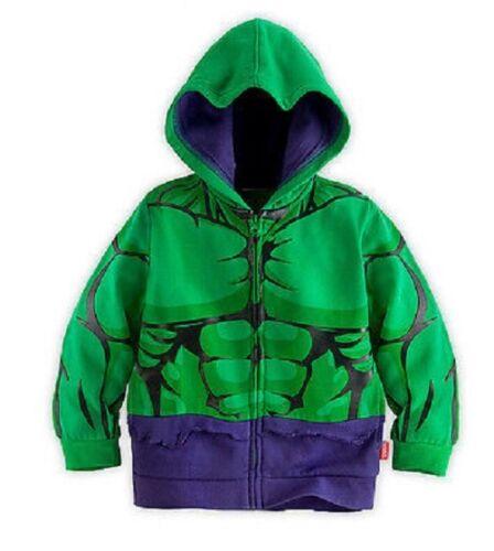 Boys Hooded Jacket Iron Man Captain America Hulk Kids Childs Costume Sweater