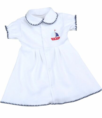 BABYPREM Baby Girls Dresses Nautical Dress White /& Navy NEWBORN Babies Clothes