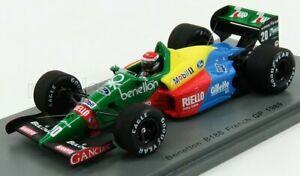 SPARK-MODEL 1/43 BENETTON   F1  B188 N 20 FRENCH GP 1989 E.PIRRO   YELLOW RED...