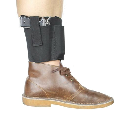 Concealed Carry Ankle Holster with 2 Mag Pouch for Fits Ruger LC9 LCP Glock 42