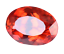 thumbnail 4 - 7.35 Ct Natural Fire Orange Sapphire CERTIFIED Oval Sparkling Tanzania Gemstone