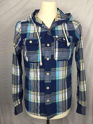 Stylish Men's Hollister Cowboy/ Lumberjack Hooded Shirt. Small