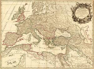 carte europe vintage