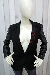 DESIGUAL-Giacca-Donna-Taglia-42-Nero-Jacket-Blazer-Woman-Blouson-Chaqueta