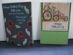 Hallmark Father/'s Day Card to DAD FROM DAUGHTER ~ 2 new cards//different designs