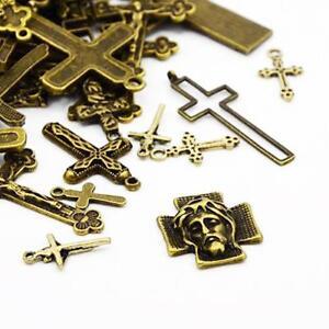 Cross Charm/Pendant Tibetan Antique Bronze 5-40mm  30 Grams Accessory Jewellery 5055711136130