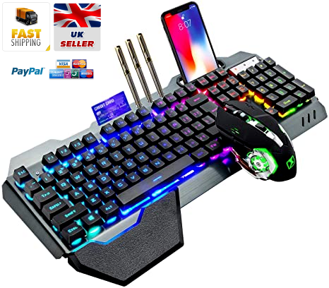 RGB K680 Wireless Gaming Mechanical Keyboard and Mouse Set for PC Xbox and PS