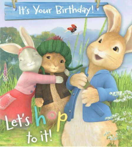 PETER RABBIT OFFICIAL Birthday Card or Gift Wrap for Son Daughter Grandson...