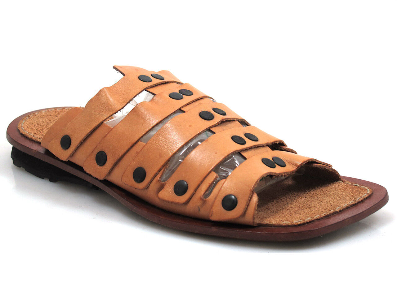 Davinci 10745 10745 10745 Men's Leather Slip On Strap Sandals be2b9e