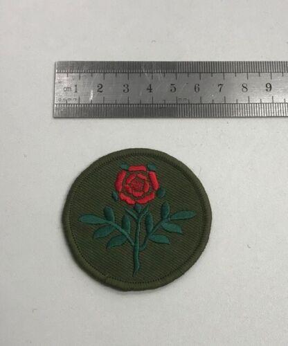 Red Rose Badge Hook /& Loop Option Circular Lancashire Patch T10
