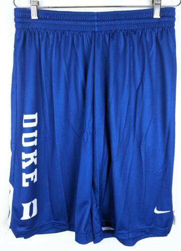 Nike Workout Shorts Mens Sz Large L Duke University Blue Devils No Pockets New