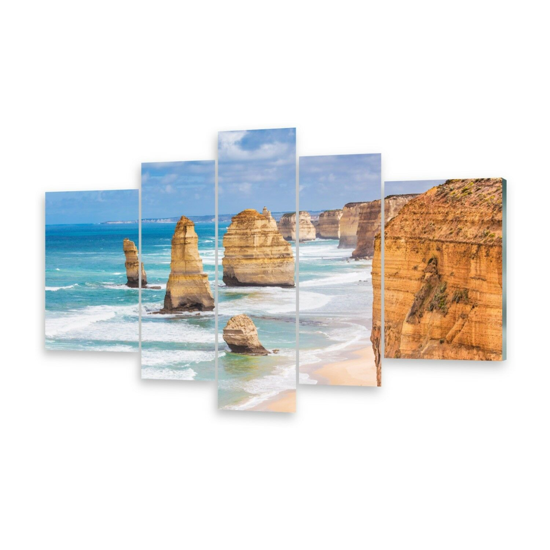 Mehrteilige Bilder Glasbilder Wandbild Steinformationen