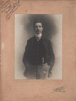 Original Handsigned B/w Photo By Pesce Non-Ironing Franco Paolantonio Italian Conductor